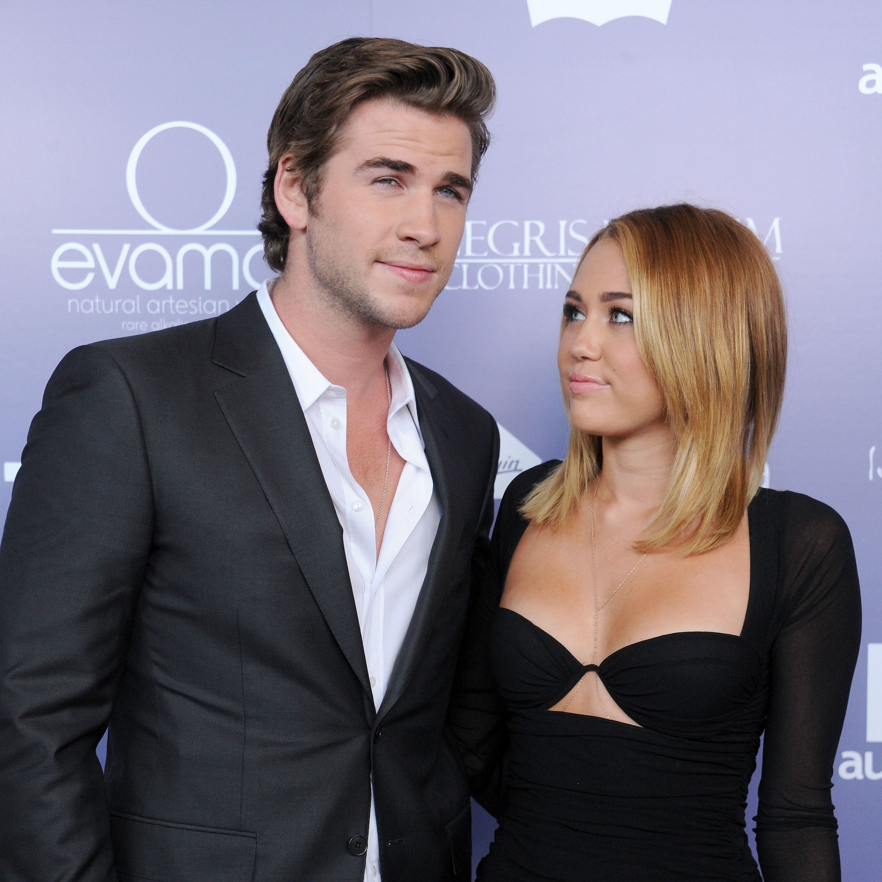 Liam Hemsworth and Miley Cyrus at the Australians In Film Breakthrough Awards, shortly after they announced their engage