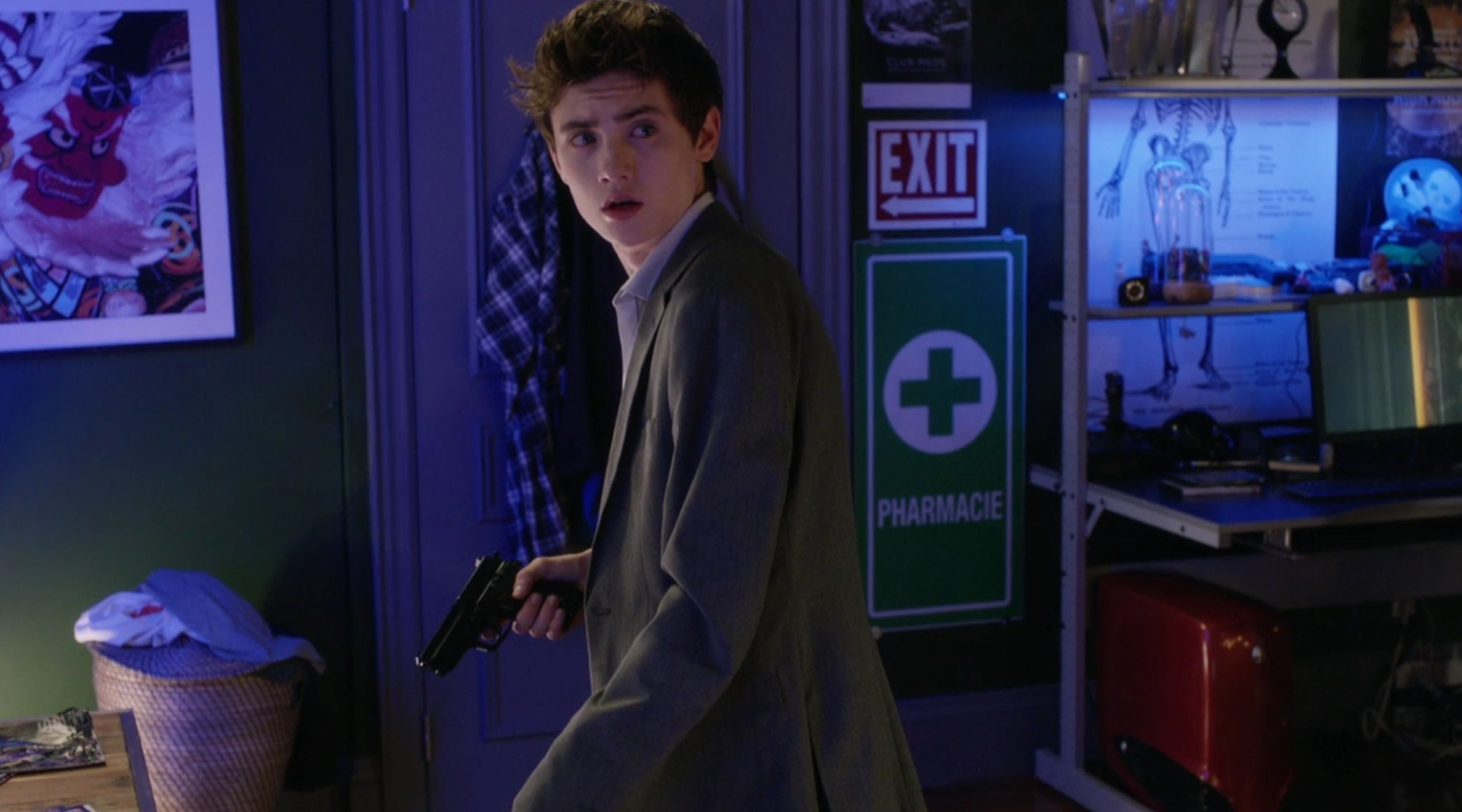 """Spencer MacPherson as Hunter Hollingsworth on the """"Degrassi: Next Class"""" season one finale, """"#SorryNotSorry."""""""