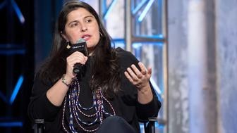 NEW YORK, NY - NOVEMBER 04:  Filmmaker Sharmeen Obaid-Chinoy discusses the film 'Song of Lahore' at AOL Studios In New York on November 4, 2015 in New York City.  (Photo by Mike Pont/WireImage)