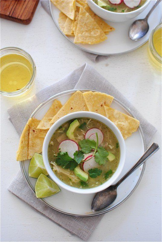 "<strong>Get the <a href=""http://bevcooks.com/2014/11/slow-cooker-salsa-verde-chicken-posole/"" target=""_blank"">Slow Cooker Sal"