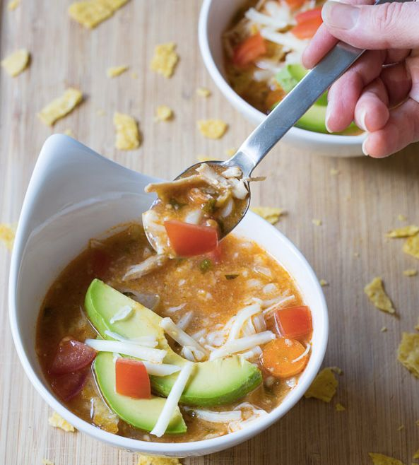 "<strong>Get the <a href=""http://www.aspicyperspective.com/slow-cooker-chicken-tortilla-soup.html"" target=""_blank"">Slow Cooker"