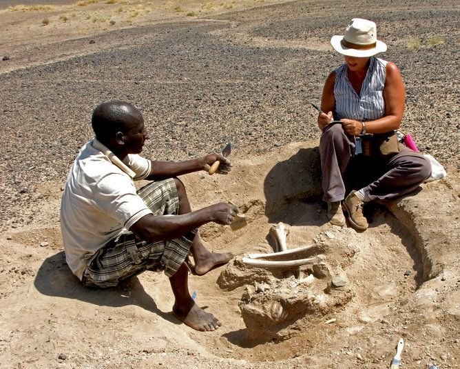 Me and my colleague, Justus Edung, during the excavations.