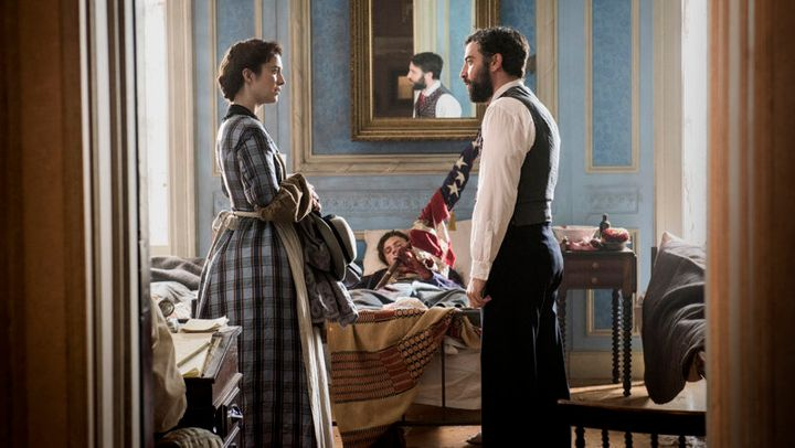 """Mary Phinney and Jedediah Foster in """"Mercy Street"""" on PBS."""