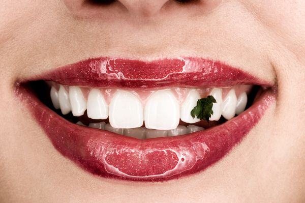 32 percent are embarrassed when they get food stuck on their teeth.