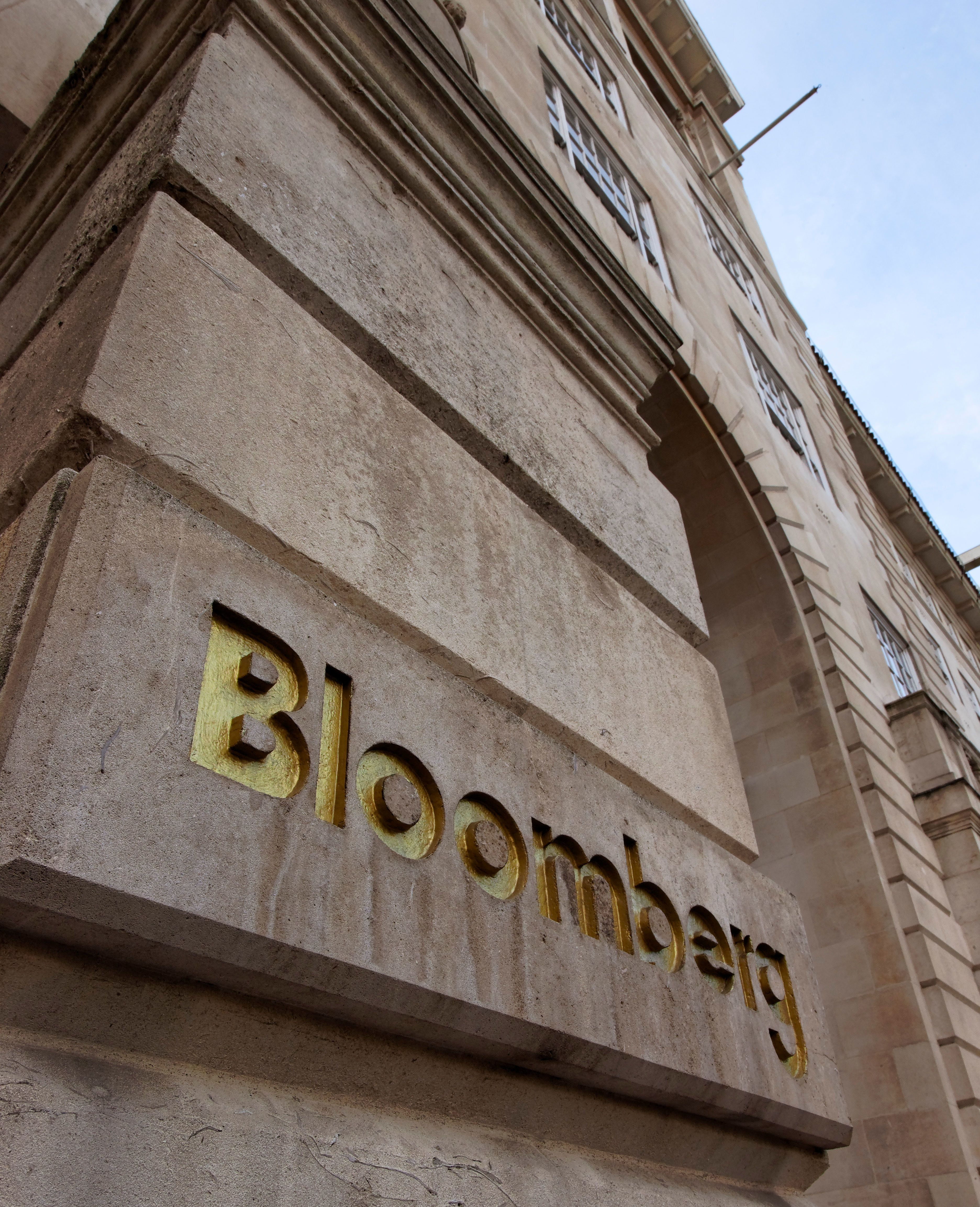 Bloomberg signage in the City of London