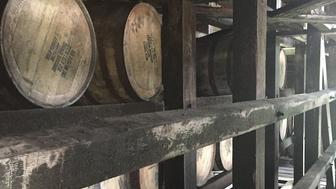 Barrels are stacked high in a plethora of rickhouses along the Kentucky Bourbon Trail.