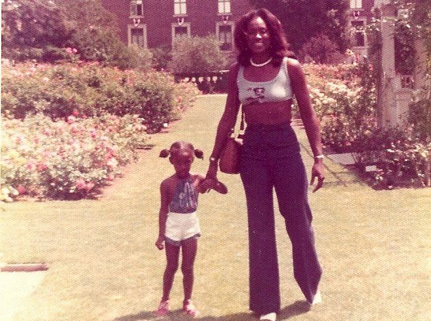 "Like mother, like daughter. Lisa Leslie's mom, right, is 6'3"" and helped prepare her future WNBA star daughter for handling a"