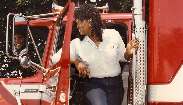 Lisa's mom, a truck driver, was strong, independent and decidedly feminine, says Lisa.