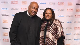 NEW YORK, NY - OCTOBER 17:  Rev Run and Justine Simmons attend Midnight Jazz Breakfast hosted by Rev Run and Justine Simmons presented by Smithfield sponsored by Mashable, part of Mohegan Sun's Late Night Party Series, during Food Network & Cooking Channel New York City Wine & Food Festival presented By FOOD & WINE at The Cecil on October 17, 2015 in New York City.  (Photo by Ilya S. Savenok/Getty Images for NYCWFF)
