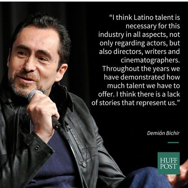 """In an interview with IndieWire, Demi&aacute;n Bichir noted&nbsp;<a href=""""https://www.huffpost.com/entry/demian-bichir-latinos"""