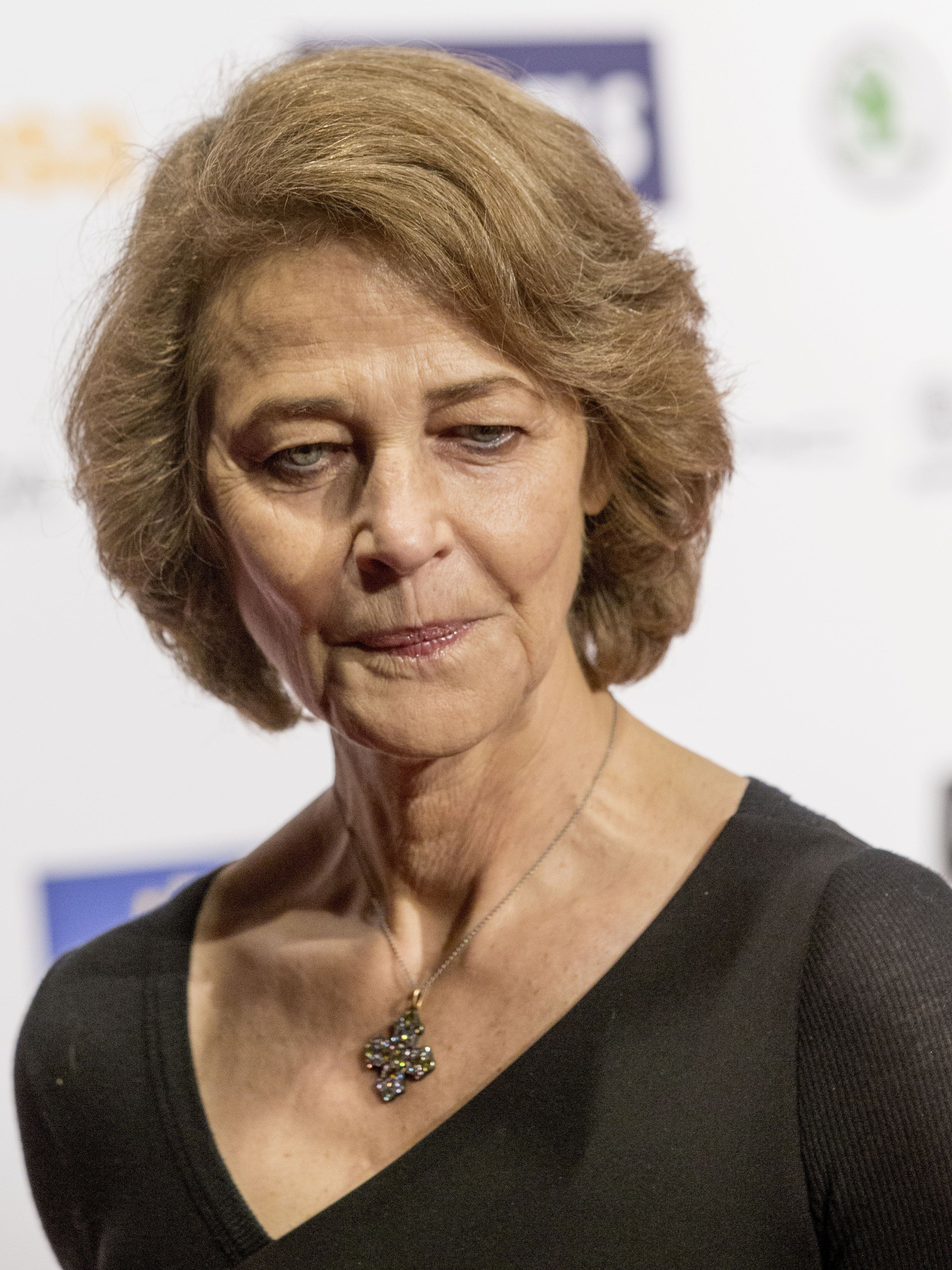 BERLIN, GERMANY - DECEMBER 12: British actress Charlotte Rampling poses for photographers as she arrives for the 28th European Film Award ceremony in Berlin on December 12, 2015. (Photo by Mehmet Kaman/Anadolu Agency/Getty Images)