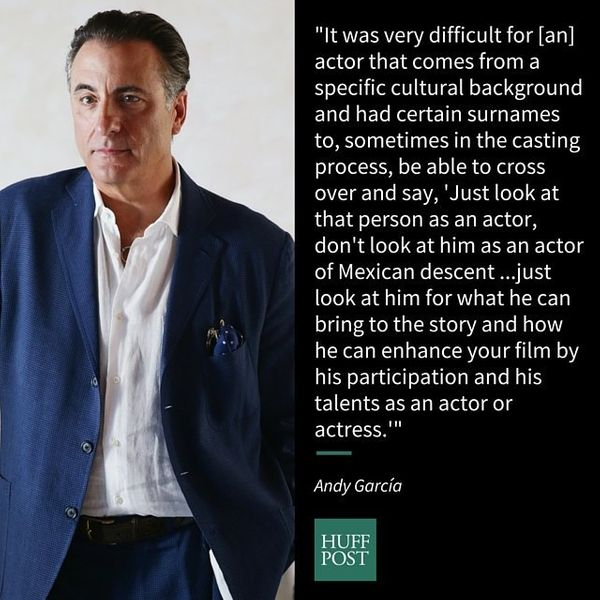 """Andy Garc&iacute;a opened up about what Hollywood was like for Latino actors when he first started in 1978 during <a href=""""ht"""