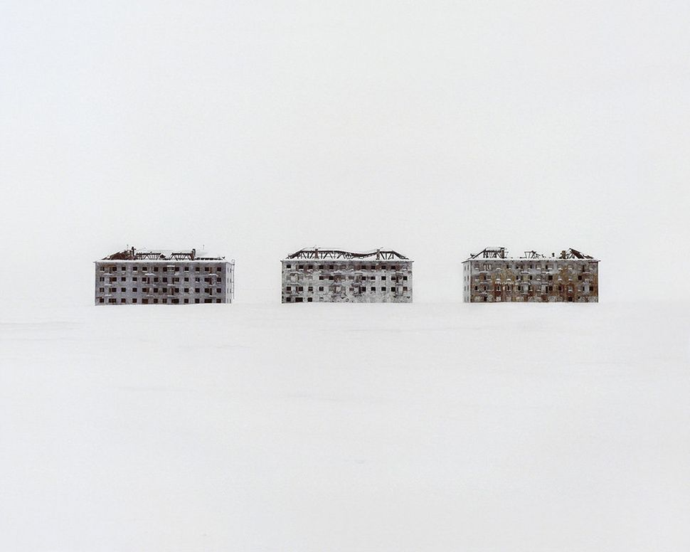 Former residential buildings in a deserted polar scientific town specialized in biological research.