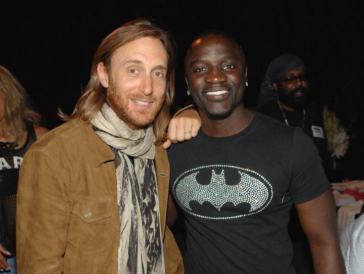 David Guetta and Akon at theBillboard Music Awards gifting lounge May 18, 2013.