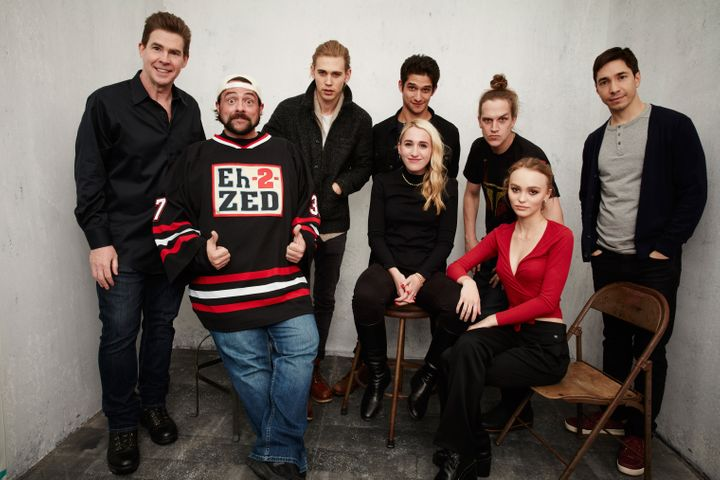 "The cast of ""Yoga Hosers"" pose at the Getty Images Portrait Studio at Sundance in Park City, Utah on Jan. 24, 2016."