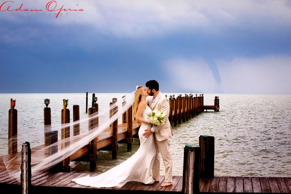 """""""Eric and Renee Rogerswere married atTheCaribbean Resort in Islamorada, Florida. The rain stopped just in t"""