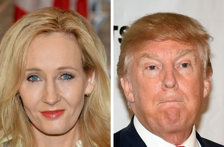 Beloved author J.K. Rowling and presidential candidate Donald Trump.