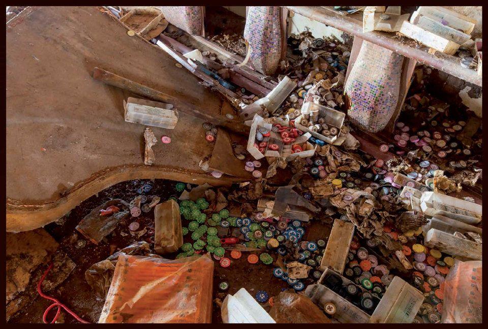 이탈리아 난파선 콩코르디아의 내부를