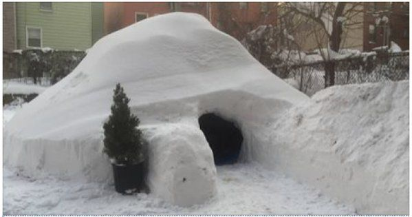 these dudes built an igloo during the blizzard and listed it on