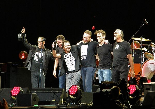 Pearl Jam donated $125,000 to the United Way of Genesee County, and persuaded a group of friends and partners, including