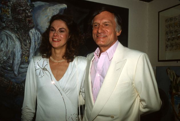 Hugh Hefner with his daughter Christie Hefner at the re-opening of the Playboy Club in New York City...