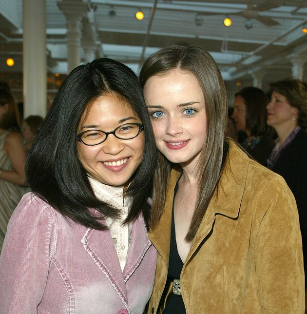 Keiko Agena and actress Alexis Bledel attend a WB Casting Call in 2002. (Photo by Jimi Celeste/Getty
