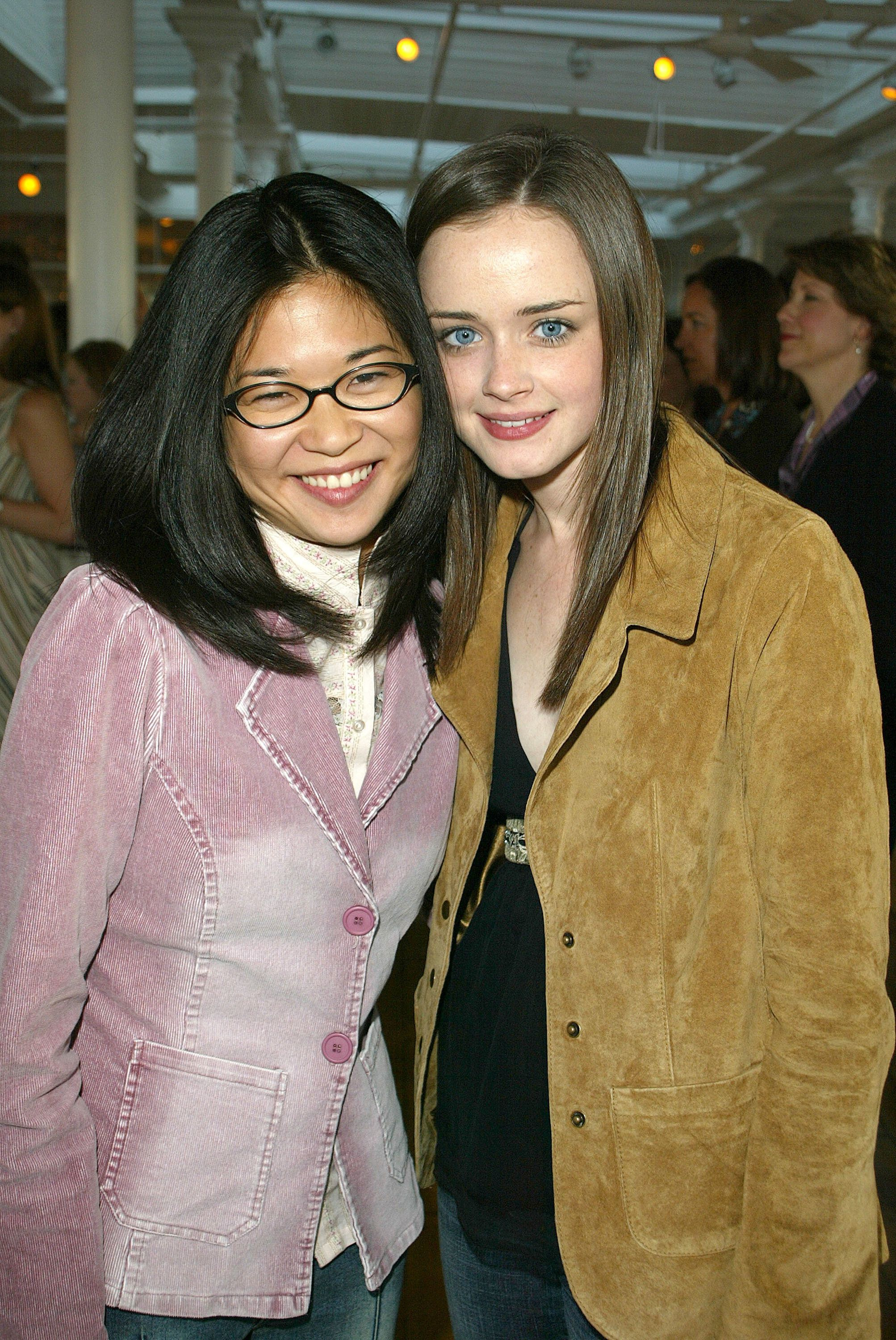 Keiko Agena and actress Alexis Bledel attend a WB Casting Call in 2002. (Photo by Jimi Celeste/Getty Images)