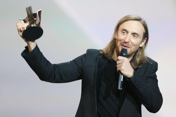 David Guetta receives an award during Les Victoires De La Musique at Le Zenith on Feb. 13, 2015 in Paris, France.
