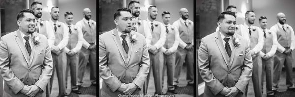 """""""Kirk's reaction to seeing his bride Kim for the first time was so adorable!"""" - Missy Fant"""