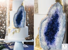 This Stunning Geode Wedding Cake Will Totally Rock Your World