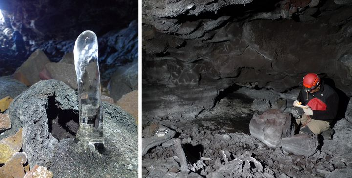 """Over the last three decades, a 2,800-square-foot ice floor, described as a """"skating rink,"""" has disappeared inside the cave."""