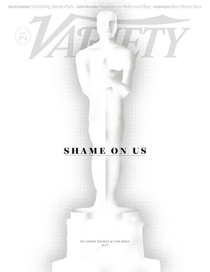 The cover of Variety on Jan. 26, 2016, tackling the lack of diversity in the Oscar nominations.
