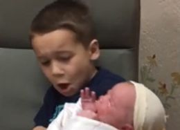 Things Did NOT Go As Planned When This Kiddo Held His New Sibling