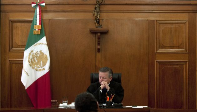 Mexican Supreme Court judge Arturo Zaldívar appears during a 2012 session. Mexico faces a July...