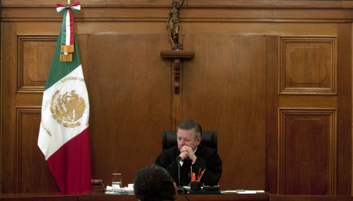 Mexican Supreme Court judge Arturo Zaldívar appears during a 2012 session. Mexico faces a July 18 deadline to implemen