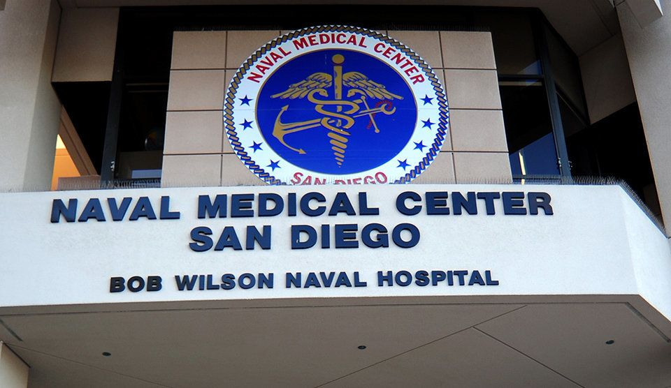 The exterior of Naval Medical Center San Diego is seen in 2012.