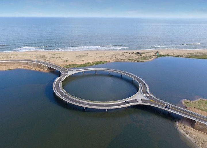 The beautiful and brilliant Laguna Garzon Bridge.