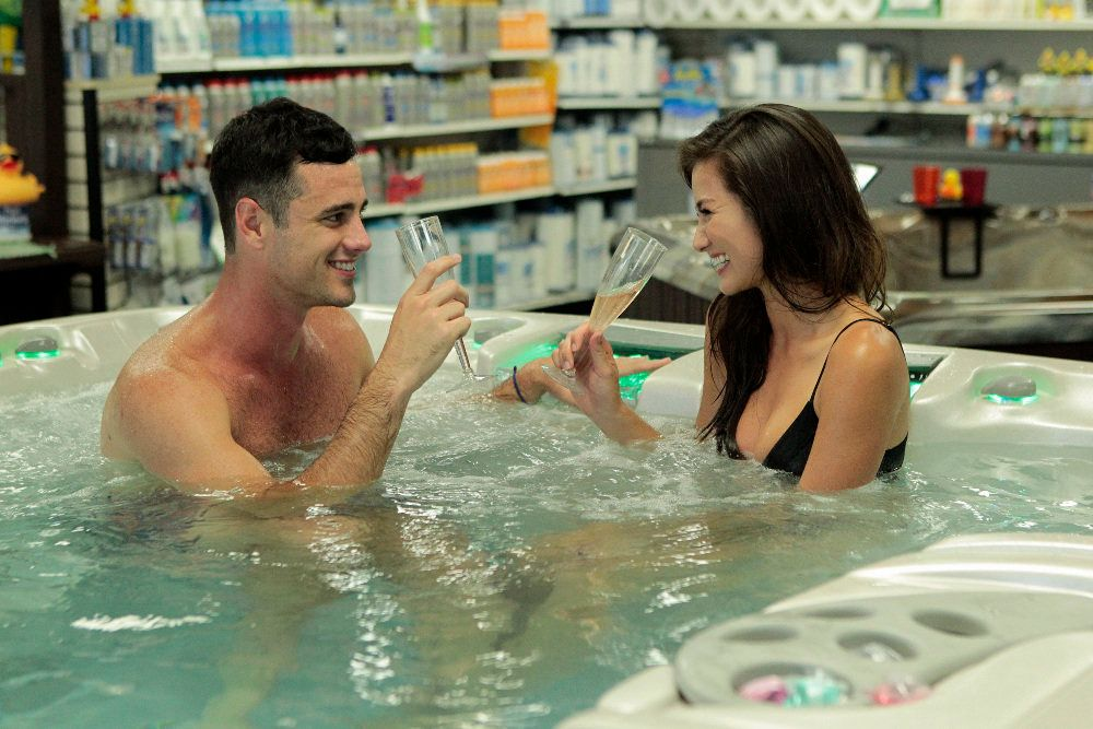 "Ben H. and Caila go on a hot tub journey during Season 20 of ""The Bachelor."""