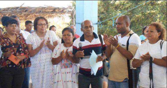 Sergio Peñaloza, at center, at the XVI Encuentro de Pueblos Negros on November 14, 2015.