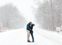 Couple's Blizzard Engagement Pics Will Warm You From The Inside Out