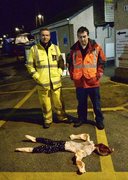 The inflatable doll was recovered after a 90-minute search of the bay.
