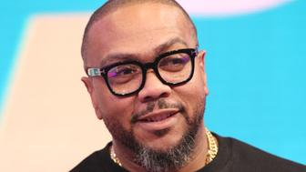 NEW YORK, NY - MAY 14:  Recording artist Timbaland visits 106 & Park at BET studio on May 14, 2014 in New York City.  (Photo by Bennett Raglin/BET/Getty Images)