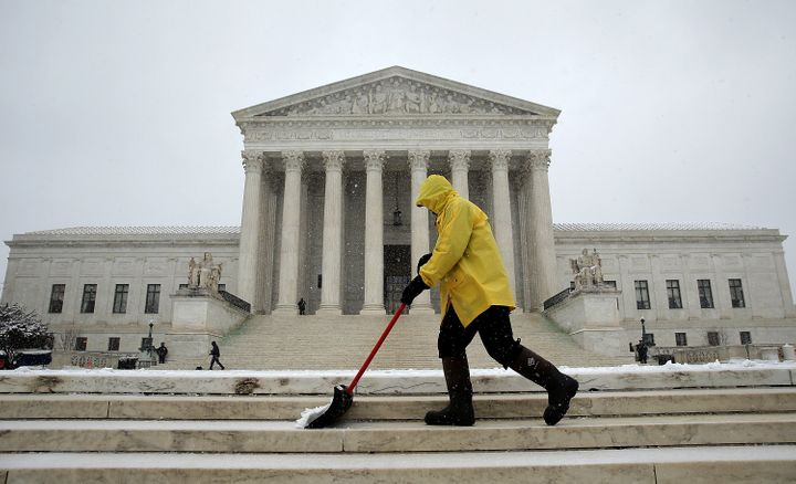With most of Washington in freakout mode after Winter Storm Jonas hit over the weekend, the Supreme Court kept its