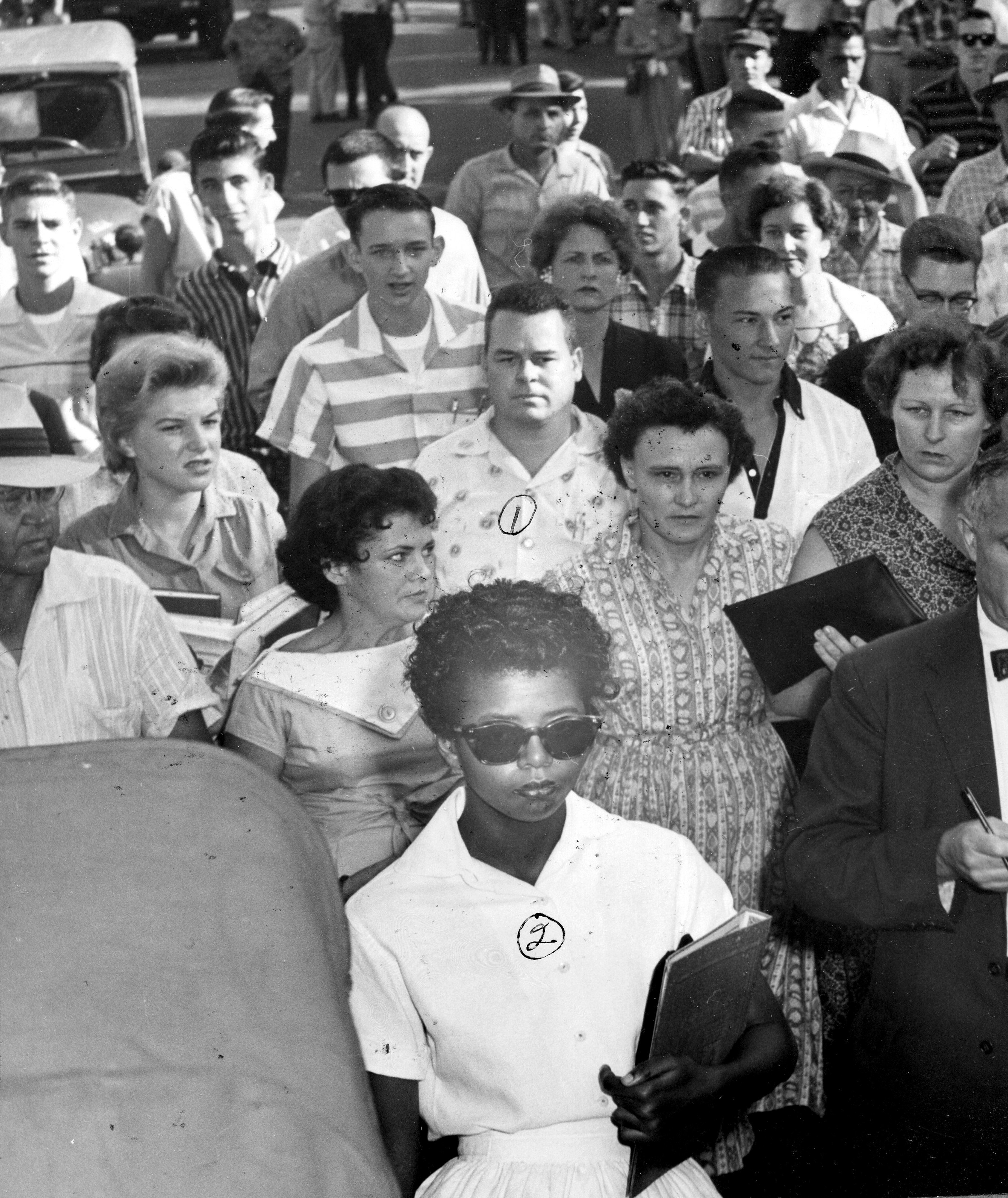 The Little Rock Nine attempt to integrate Central High School over the opposition of Gov. Orval Faubus