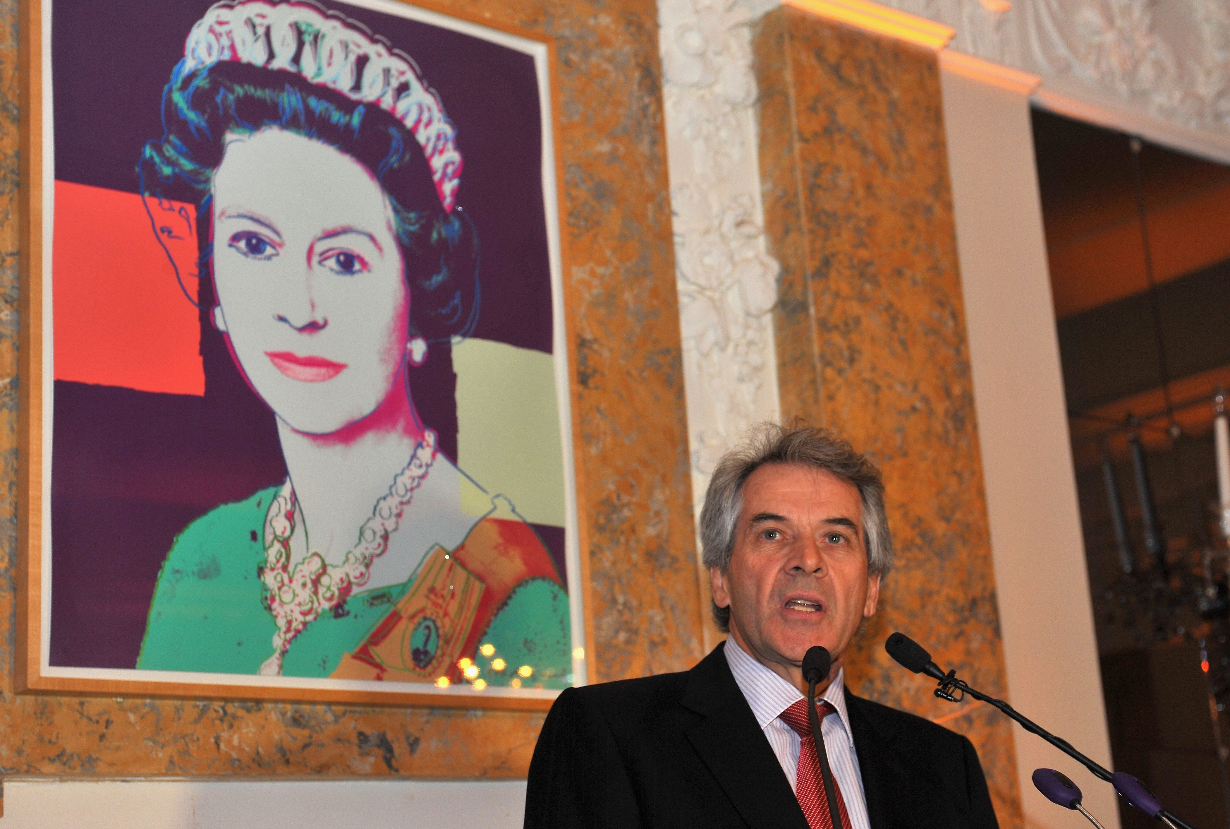 WASHINGTON, DC - APRIL 24:  The British Ambassador to the United States Sir Peter Westmacott speaks at Capitol File's WHCD Weekend Welcome Reception with Cecily Strong at The British Embassy on April 24, 2015 in Washington, DC.  (Photo by Larry French/Getty Images for Capitol File Magazine)