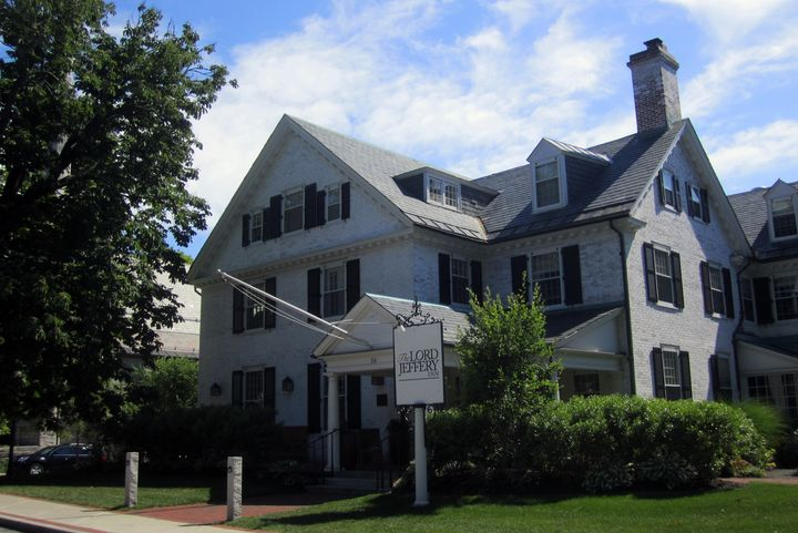 Lord Jeffery Inn, pictured above, will be renamed following Amherst College's decision to part with the unofficial mascot and