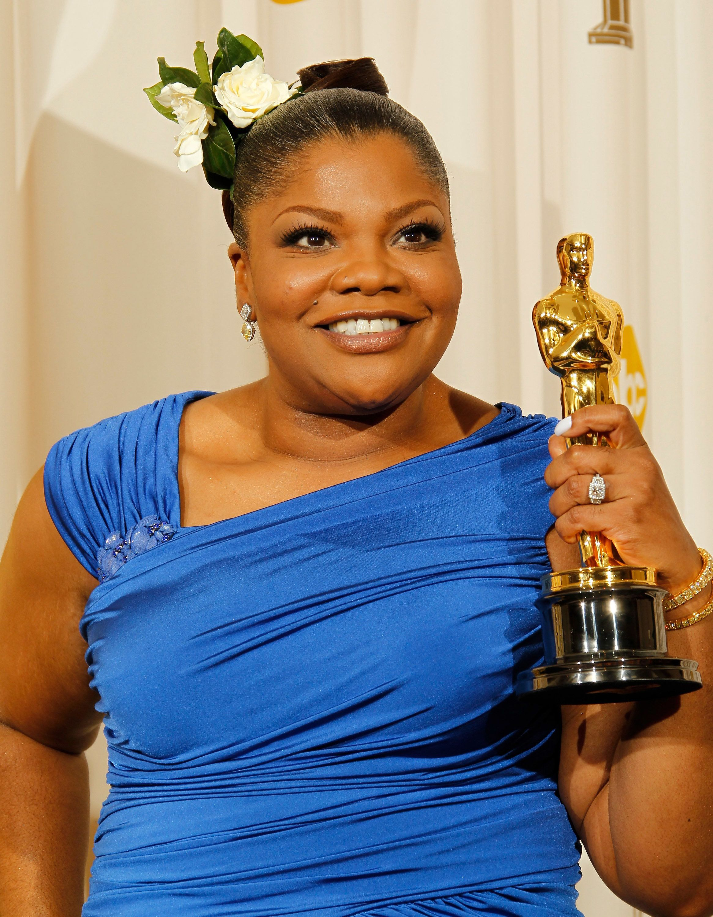 HOLLYWOOD - MARCH 07:  Actress Mo'Nique, winner for Best Supporting Actress for 'Precious' poses in the press room at the 82nd Annual Academy Awards held at the Kodak Theater on March 7, 2010 in Hollywood, California. (Photo by Dan MacMedan/WireImage)