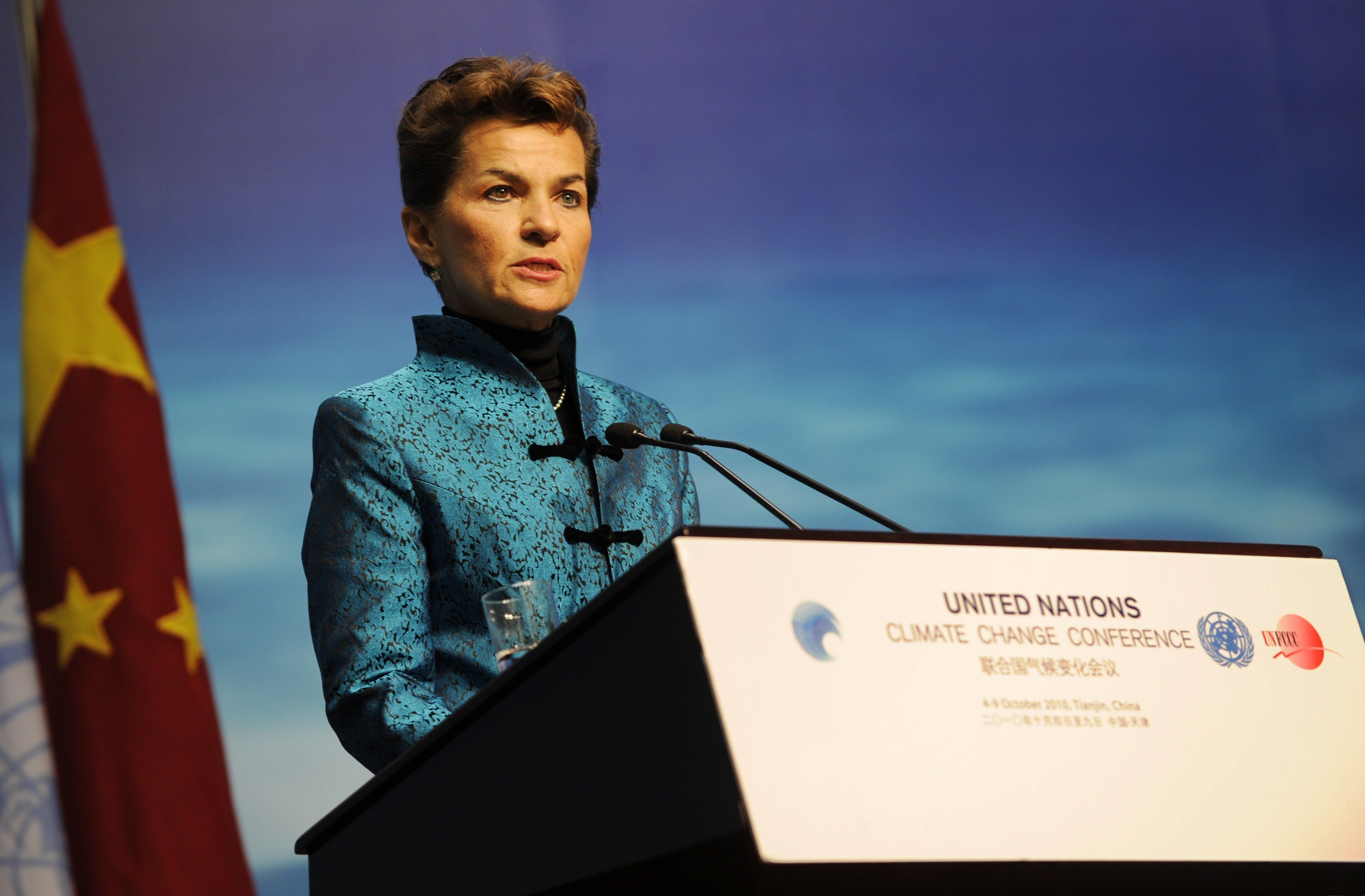 U.N. climate chief Christiana Figueres.