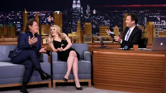 THE TONIGHT SHOW STARRING JIMMY FALLON -- Episode 0408 -- Pictured: (l-r) Actor Josh Brolin and actress Kate McKinnon play 'First Impressions' with host Jimmy Fallon on January 26, 2016 -- (Photo by: Andrew Lipovsky/NBC/NBCU Photo Bank via Getty Images)