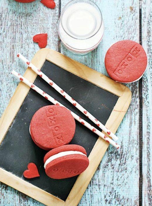 """<strong>Get the <a href=""""http://www.somethingswanky.com/red-velvet-oreos/"""" target=""""_blank"""">Red Velvet Oreos recipe</a>f"""